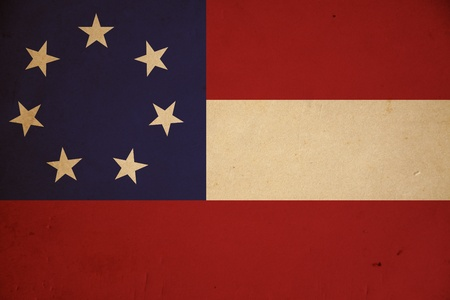 Grunge first Confederate flag background. photo