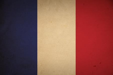 frans: Grunge Franse vlag achtergrond. Stockfoto