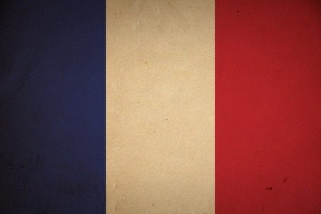 Grunge französische Flagge Hintergrund. Standard-Bild - 8881236