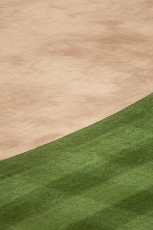 La saleté entrepiste et fond d'herbe de champ dans un stade de base-ball. Banque d'images - 10378909