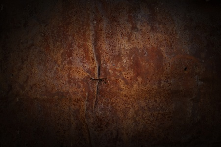 rusty background: Weathered and damaged abstract metal texture. Stock Photo