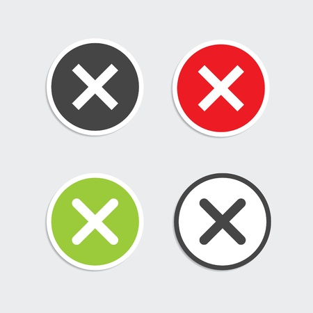 Modern web 2.0 delete buttons for lightboxes.  Stock Vector - 11027942