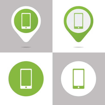 Set of digital book icons for web or print use.  Vector