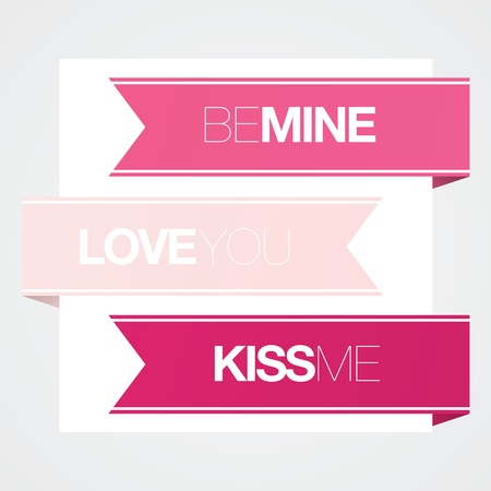 loved: Modern Valentines Day banners for friends and loved ones.