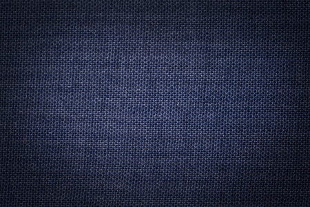 Background texture of a blue painted canvas.  Stock Photo