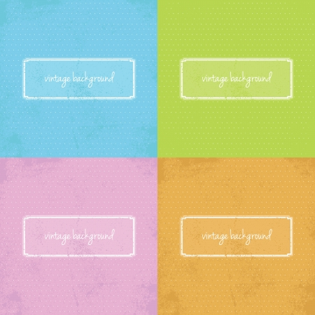 Set of colorful modern vintage backgrounds with elegant shape and grunge.  Vector