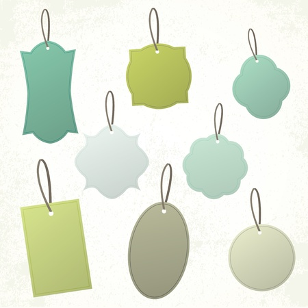 Set of vintage blank vintage shapes and tags   Stock Vector - 14185268