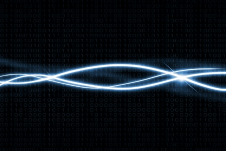Modern abstract binary code background with light effects   Stock Photo