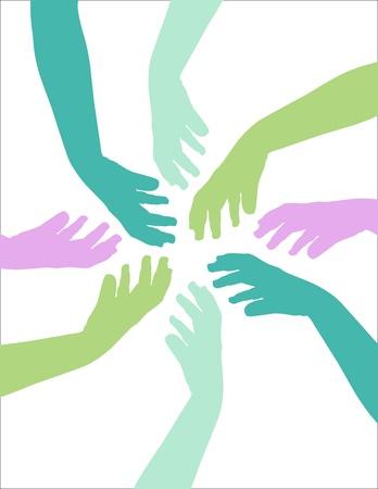 Niños ayudando: Manos de colores llegan para ayudar a los demás