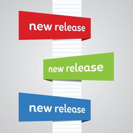 視点の方向と色の新しいリリースのバナー。  イラスト・ベクター素材