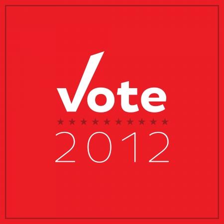Modern, minimalist Vote 2012 poster.  Vector