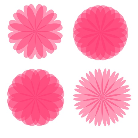 Four Pink Flowers