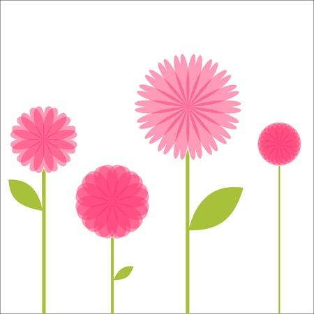 Pretty Pink Floral Stems