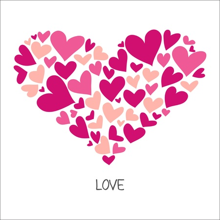 Pink Hand Drawn Heart