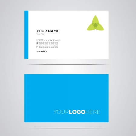 Modern, colorful business card template layout.