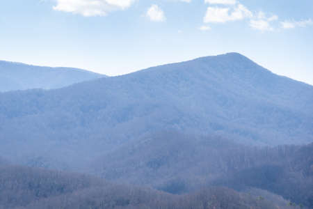 view over the mountains from gatlinburg tennessee