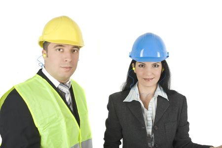 Portrait of two young architects team or engineers Stock Photo - 4204088