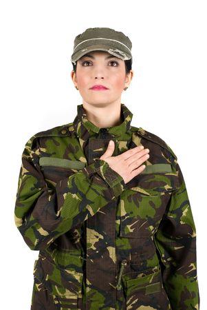 honestidad: Juro solemnemente soldado del Ej�rcito con la mano en el coraz�n para defender el pa�s