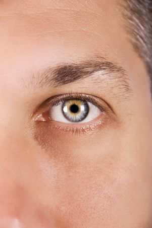 Close of of beautiful blue eye of mid adult man looking at camera Stock Photo - 5464707