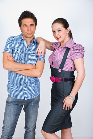 Elegant young couple posing in a fashion style Stock Photo - 6960596