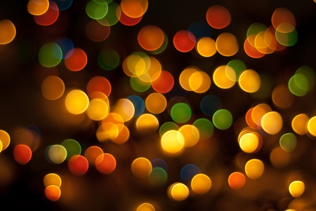 Abstract Christmas tree lights with different colors background photo