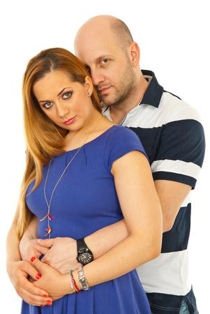 Beauty couple hugging isolated on white background Stock Photo - 13044941