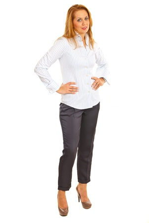 Full length of executive woman isolated on white background Stock Photo - 16129731