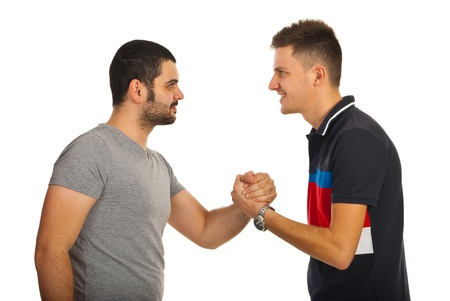 Image result for two guys shake hands