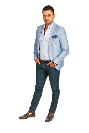 elegant business man: Uomo elegante di affari isolato su sfondo bianco Archivio Fotografico