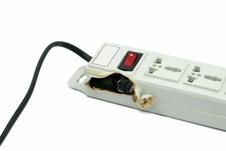 meltdown: Meltdown and Burn Power Bar Plug Stock Photo