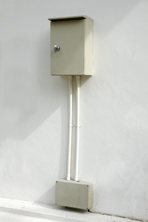 junction pipe: Safety outdoor electric connector box mounted on the wall