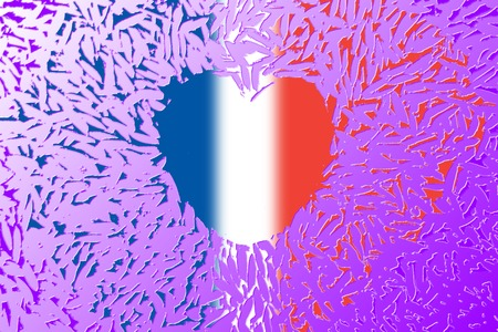 frence: Heart and blood with flag of france for Pray for Paris concept