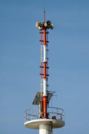 tsunami: The tsunami warning tower in Thailand Stock Photo