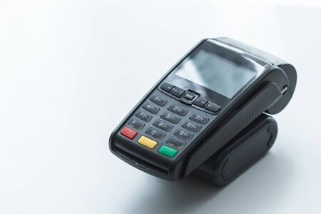 credit terminal for debit or credit card payments 免版税图像