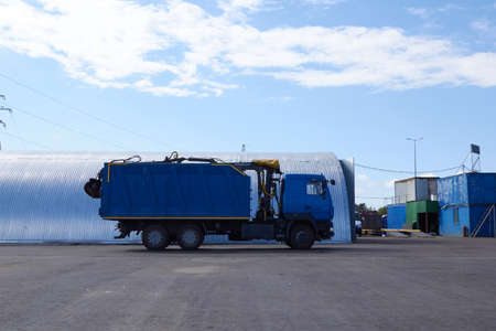 Saint Petersburg, RUSSIA - May, 2019: special equipment car for garbage.