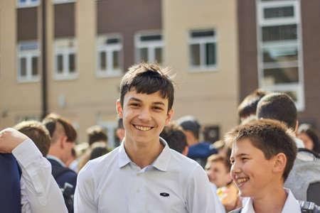 Russia, Saint-Petersburg, September 2019: first of September back to school.