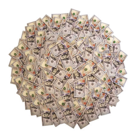 American money in a circle of isolate on a white background 免版税图像