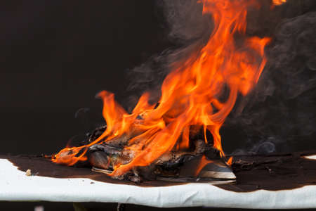Fire caused by faulty electrical wiring in iron