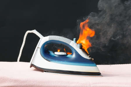 On the ironing board fire caused by faulty electrical wiring
