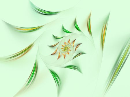 Spring floral fractal background