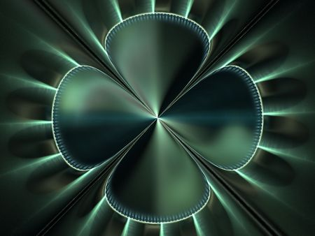 Abstract fractal design resembling a satin fabric shamrock background Imagens