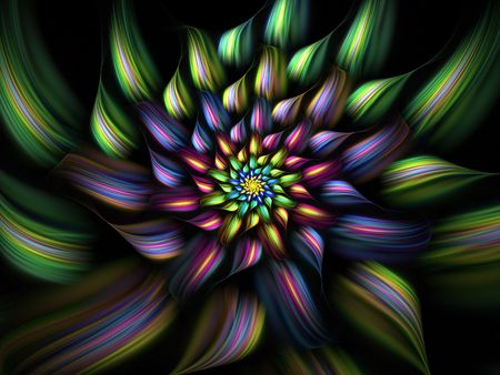 Multicolor fractal flower