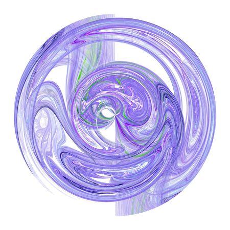 Fractal resumen diseño parecido a una bola de cristal con el remolino de humo azul  Foto de archivo - 2697986