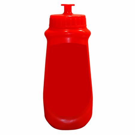 ketchup bottle: Tomato ketchup bottle. Isolated on white background Stock Photo
