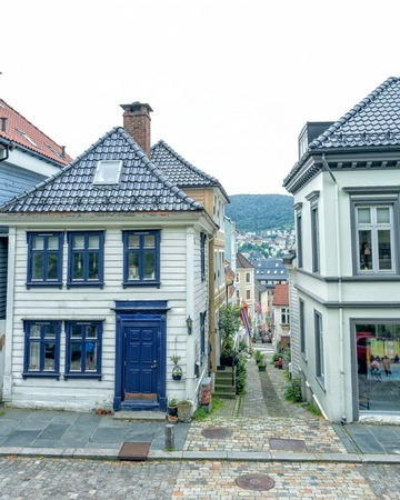 Traditional houses in the old town of Bergen