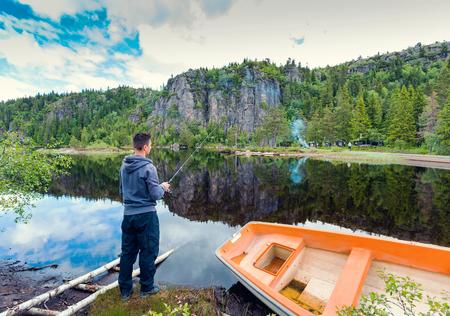 Flyfishing in the Norwegian mountains