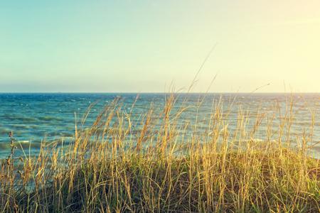 Beautiful beach bay, view on the sea