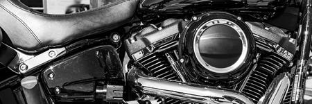 a shiny motorcycle engine Stock fotó