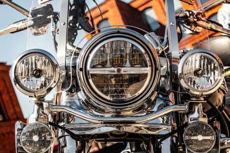 motorbike front with headligts