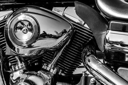 a shiny motorcycle engine Archivio Fotografico
